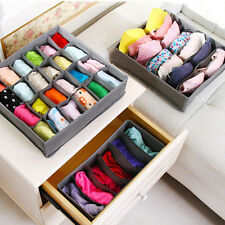 3pcs Organizer Tie Bra Socks Drawer Cosmetic Divider Storage Box Container