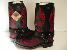 Harley Davidson boots Slayton D93141 leather black oil resisting size 8.5 men us