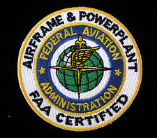 FEDERAL AVIATION ADMINISTRATION PATCH AIRFRAME & POWERPLANT FAA PIN UP CERTIFIED