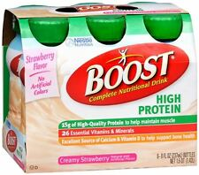 BOOST High Protein Nutritional Energy Drinks Strawberry 48 oz (Pack of 4)