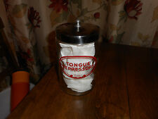 "Vintage PROFEX Tongue Depressors GLASS MEDICAL JAR STAINLESS STEEL LID USA 7""H"
