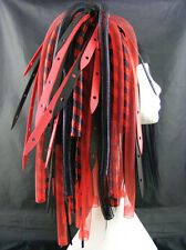 CYBERLOXSHOP REDWEB METALLIC CYBERLOX CYBER HAIR FALLS DREADS RAVE RED BLACK