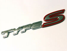 Type S Chrome Red Badge Emblem Honda Civic Integra FN2 EP3 EK Rear Boot Trunk 42