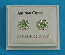 New Ladies Sterling Silver Flower CZ Studs Earrings 12mm 925 Hallmarked