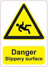 [ 205x290mm ] DANGER  SLIPPERY SURFACE health and safety | signs/stickers