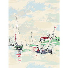 John Lewis Sanderson Sail Away Wallpaper Wide Roll Vintage Green 214588