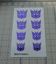 Hasbro Ocean TF Decepticon Clear background metal Logo decals,large size.