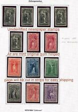1875-1894 ISSUE ( NEWSPAPER STAMP ASSORTMENT) FROM GERMAN ALBUM