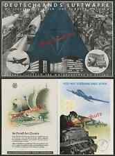 Reklame Luftfahrt Junkers Dessau Focke-Wulf Bremen FW 200 Arbeiter Montage 1939!