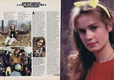 Coupure de presse Clipping 1982 Sandrine Bonnaire  (2 pages)