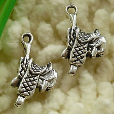 free ship 45 pieces tibetan silver saddle charms 22x12mm #2862