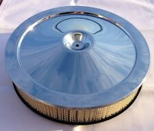 Chevrolet Chrome Air Cleaner Top Lid Diagonal Filter Base SB BB Motors MUST READ
