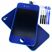 Blue LCD Touch Screen Glass Digitizer Assembly + Back For iPhone 4G Repair Parts