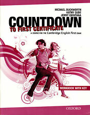 COUNTDOWN TO FIRST CERTIFICATE FCE Workbook with Key & Student's Audio CD @NEW@
