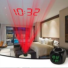 Digital Weather LCD Projector Projection Snooze Alarm Clock LED Backlight Shadow