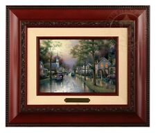 Thomas Kinkade Hometown Morning - Brushwork (Brandy Frame)