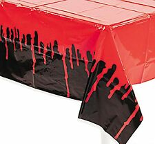 9ft BLOOD Dripping bloody Tablecloth Plastic Table Cover Zombie Halloween Party