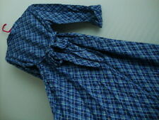 April Cornell Blue Plaid Dress New L Large Vintage Romantic Sash Purple Bow VTG