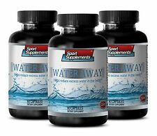 Diuretic - Water Away Pills 700mg -100% Natural Blend of Herbs Supplements 3B