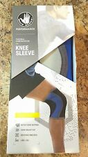 Neoprene Athletic Knee Protection Compression Sleeve Brace ACL Blue Size Large