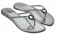 WOMENS LADIES SUMMER BEACH FLIP FLOPS THONG TOE POST FLAT SANDALS SHOES SIZE 3-8