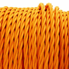 ORANGE TWIST vintage style textile fabric electrical cord cloth cool cable 1m
