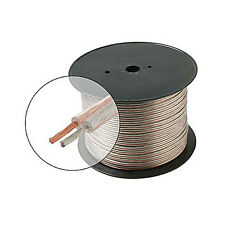 Eagle 500' Ft 12 AWG ga Speaker Cable Clear 2 Conductor Pure Copper Home Theater