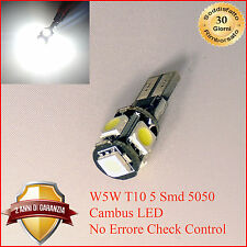 T10 LAMPADA POSIZIONE CANBUS NO ERRORE LAMPADINA POSIZIONE 5 LED SMD T10 W5W