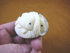 (tne-fish-201) Tropical Aquarium FISH TAGUA NUT Figurine Carving Vegetable ivory
