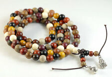 8mm 108PCS Natural Mix Wood Mala Meditation Loose Beads Round 33""