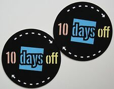 Slipmats - 10 Days Off - Black / Blue / White (1 Paar / 1 Pair) NEU + OVP!!!