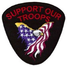 SUPPORT OUR TROOPS EMBROIDERED BIKER  PATCH