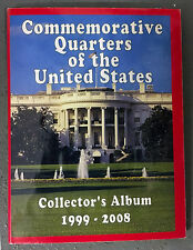 FIFTY Commemorative Quarters of the USA 1999-2008 CIRCULATED, Collector's Album