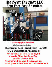 Biker Angel American Diorama 1:24 Figure Will fit on a 1:24th scale motorcycle