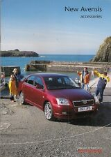 Toyota Avensis Accessories 2003-04 UK Market Sales Brochure Saloon Hatch Tourer