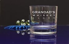 Personalised GRANDAD'S WHISKEY GLASS Birthday Christmas gift,present 43