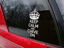 2 Pack Genuine Keep Calm and Chive On Decals from The Chive KCCO stickers car