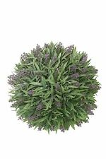 """12"""" Artificial Lavender Ball Lavender Frosted (pack of 2) Indoor Outdoor Plant"""
