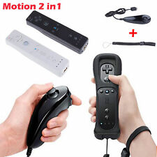 Wiimote Built in Motion Plus Inside Remote & Nunchuck Controller For Wii Hot Sel