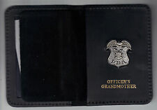 New Jersey PBA Officer's Grandmother Wallet (Silver Plated Mini Badge Included)