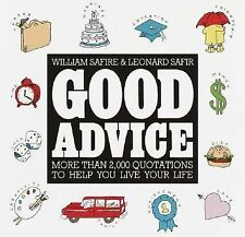 Good Advice by William Safire Hardcover Book 1993