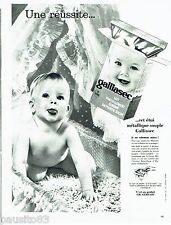 PUBLICITE ADVERTISING 116  1962  lait en poudre bébé Galliasec