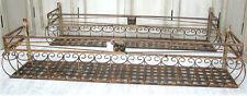 2x 120cm Wand-Blumenkasten Eisen Balkonkasten 0946427L-b