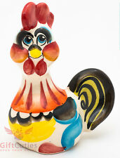 Rooster gzhel porcelain figurine symbol of 2017 new year handmade in Russia