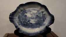 ANTIQUE Staffordshire Transferware Flow Blue Platter, Very Special, Excellent