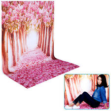 5x7ft 100% Polyester Cherry Blossom Backdrop Background for Video Shooting