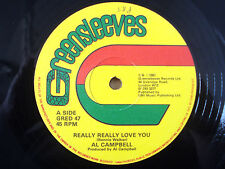 "Al Campbell ‎Really Really Love You ♫LISTEN♫ Greensleeves UK 12"" GRED47 1981 EX"