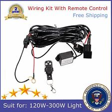 Remote Control Wiring Harness Kit Switch Relay Led Work Light Bar 2M 120-300W US