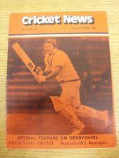 03/06/1978 Cricket News: Vol.02 No.06 - A Weekly Review Of The Game, Special Fea