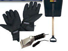 12V ELECTRIC ICE SCRAPPER + INDUSTRIAL SNOW SHOVEL + HEATED GLOVES CAR VAN SET
